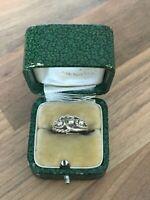 Lovely Vintage Hallmarked GLd Sterling Silver Band Ring Sz H 1/2 2gr B'gham 1979