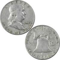 1962 D Franklin Half Dollar VF Very Fine 90% Silver 50c US Coin Collectible