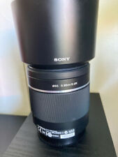 EXCELLENT SONY DT 55-200mm f4-5.6 SAM ZOOM LENS - A MOUNT  2 caps  and hood
