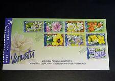 Vanuatu 2006 FDC Tropical Flowers International Post