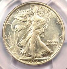 1917-D Walking Liberty Half Dollar 50C (Reverse Mintmark). PCGS AU53 - Rare Date