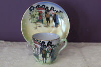 VINTAGE GRIMWADES ENGLAND 'IRISH CHARACTERS' TEA CUP AND SAUCER