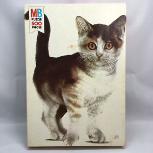 Milton Bradley Vintage Kitty Puppy Series 500 Piece 1978 Cat