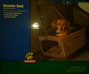 NEW Collapsible Pet Booster Car Seat for Small Dog Carrier up to 18 lbs - Brown