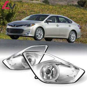 13-15 For Toyota Avalon Clear Lens Pair OE Fog Light Lamp+Wiring+Switch Kit DOT
