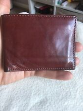 M&S Gentlemans Red Brown Leather Bifold Wallet.
