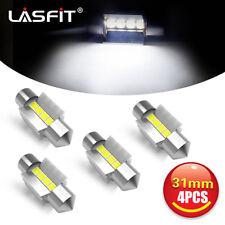 4pcs LASFIT DE3175 31MM White Festoon Dome Map LED Interior Light Bulb DE3022