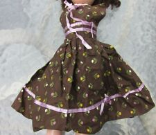 "Fashion Doll Street Dress Revlon Cissy 20"" Dolls Tulips Brown Purple Vintage"