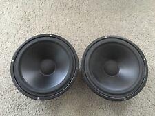 """2 Vintage ? 831709 Peerless 8"""" Woofers Speakers Made In Denmark"""
