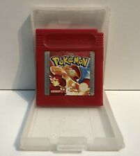 NINTENDO GAMEBOY POKEMON RED W/ PROTECTION COVER, WORKING SAVE BATTERY EURO PAL