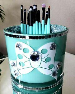Large Glitter Makeup Brush Holder Cup Brushes Organizer Storage Vanity Decor.