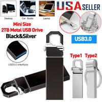 USB 3.0 Flash Drive 2TB Metal Pen Drive Flash Memory USB Stick U Disk Storage US