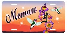 Hummingbirds Custom Personalized License Plate Any Name Or Text In Any Color