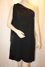 NEW MAX AND CLEO BLACK CAMILA BEADED COCKTAIL SAB6R471 DRESS SIZE 12
