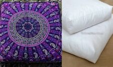 "35"" Indian Mandala Square Floor Pillow Cotton Cushion Cover Throw Large Dog Bed"