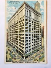 Antique Postcard The Boston Store State Madison And Dearborn St., Chicago, Il