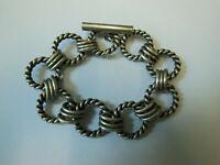 Bracelet 1970 vintage Maille Hermès alliage argenté