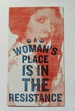 A Woman's Place Is In The Resistance magnet  Princess Leia magnet 2 x 3.5 inches