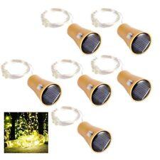 6x LED Solar Powered Cork Wine Bottle String Light Wedding Party Xmas Decor DIY