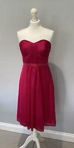 Ladies Coast Silk Dress With Detachable Shoulder Straps Size 12