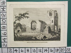 1787 DATED ANTIQUE YORKSHIRE PRINT ~ KIRKBY KIRBY RAVENSWORTH CASTLE