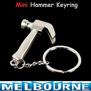 1x Mini Claw Hammer Car Key Ring Creative Keychain Mini Tools Tradesman Present