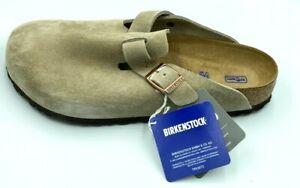 Birkenstock Boston soft footbed clog, Taupe suede, 40 EU(Women 9-9.5 Men 7-7.5)