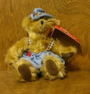 """Russ Berrie #100344 JIMBLES, NEW/tag,  5"""" From Retail Store BEARS FROM THE PAST"""