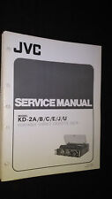 JVC kd-2 a b c e j u service manual original portable stereo cassette deck tape