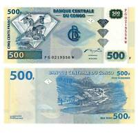 Pick 96 Kongo / Congo 500 Francs 2002  Unc. / 8212266vvv