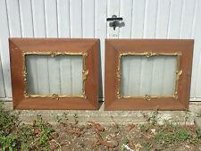 2 cadres en merisier avec moulure doré 1900 en bon état