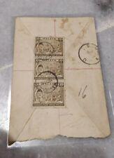 Malaysia 1957 Merdeka Malaya Tunku Abdul Rahman 3v stamp actual mail cover R3741