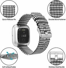 For Fitbit Versa 2 / Versa Lite/Fitbit Versa Bands Breathable Woven Fabric Strap