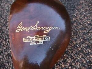 Antique PRO RESTO Wilson GENE SARAZEN BRASSIE 2 WOOD SHAFT 1930 PLAY /DISPLAY
