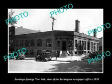 OLD HISTORIC PHOTO OF SARATOGA SPRINGS NEW YORK THE SARATOGIAN NEWSPAPER c1930