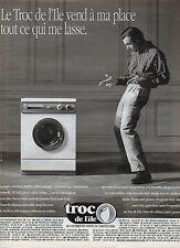 Publicité 1991  troc de l'ile dépot vente électroménager vente du particulier
