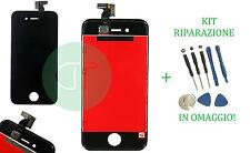 TOUCH SCREEN VETRO LCD DISPLAY PHONE 4S NERO GRADO