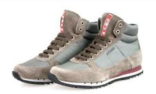 AUTHENTIC LUXURY PRADA SNEAKERS SHOES 4T2782 GREY NEW US 10.5 EU 43,5 44