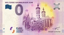 Billets Euro Schein Souvenir Touristique 2019 Welterbe Naumurger Dom