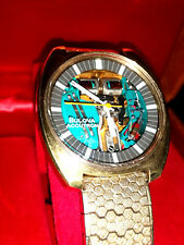 OROLOGIO WATCH BULOVA ACCUTRON DIAPASON 214 SPACEVIEW GOLD VINTAGE OVERSIZE
