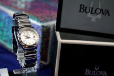BULOVA 96R002  LADIES DRESS WATCH S/S MOTHER OF PEARL DIAL 12 REAL DIAMONDS