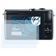 Bruni 2x Schermfolie voor Canon EOS M100 Screen Protector Displaybeveiliging