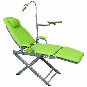 Dental Portable Mobile Folding Chair Unit+LED Surgical Lamp+Instrument Tray