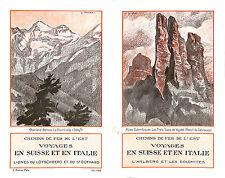 CHEMINS DE FER DE L'EST BROCHURE VOYAGES SUISSE ITALIE ITALIA 1926