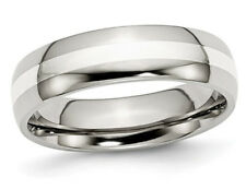 Mens 6mm Stainless Steel Comfort Fit Wedding Band