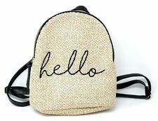 T-Shirt & Jeans Straw Hello Back Pack, Natural