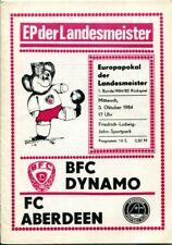 Programmheft, BFC, BFC Dynamo - FC Aberdeen, EP der Landesmeister 1984 /35