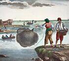 1793 Panckoucke - Scenes of Coastal Fishing - FOLIO antique original