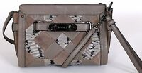 COACH Pewter Pebble Leather Swagger Wristlet Crossbody HANDBAG New