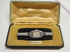 Vintage Art Deco Bulova Watch June 10,1924 Serial # 1348616